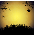 Halloween background with spider vector image