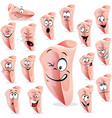 ham cartoon with many facial expression - i vector image vector image