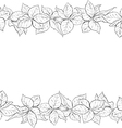 Hand drawn seamless border with foliage of rose vector image vector image