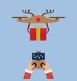 hand santa claus with remote control vector image