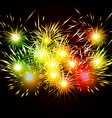 Happy New Year Fireworks colorful vector image vector image