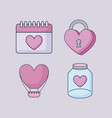 happy valentines day set icons vector image vector image