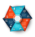 hexagon element for infographic vector image vector image