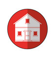 house facade residential estructure blue circle vector image vector image