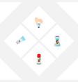 icon flat flavor set of flavor condiment sodium vector image