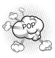 isolated comic cloud vector image