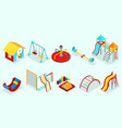 isometric playground elements set vector image
