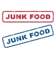 Junk Food Rubber Stamps vector image vector image