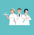 medic team vector image