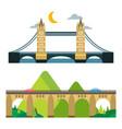 modern bridge flat pictogram business architecture vector image vector image