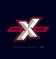modern professional letter emblem for extreme vector image vector image