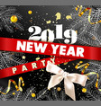 new year 2019 party promotional poster with spruce vector image vector image