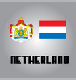 official government elements of netherland vector image vector image