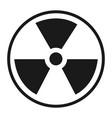 radioactive icon vector image