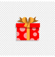 red present box isolated on transparent vector image