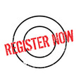 Register now rubber stamp