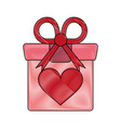 romantic gift box vector image vector image