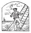 sailor vintage vector image vector image