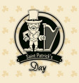 saint patricks elf cartoon card vector image vector image