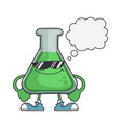 science test tube with sunglasses and speech vector image vector image