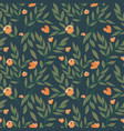 seamless floral pattern with tree branches vector image vector image