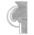 section of a volute of an ionic capital hollowed vector image vector image