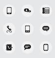 set of 9 editable gadget icons includes symbols vector image