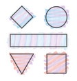 set of frames different shapes with pastel colors vector image vector image