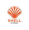 shell abstract logo design template isolated vector image