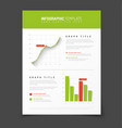 simple infographic template with flat design vector image vector image