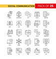 social communication black line icon - 25 vector image