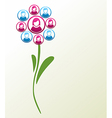 Social media people flower vector image