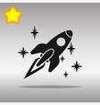 spaceship black icon button logo symbol vector image