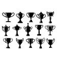 Sport and achievement trophy cups vector image