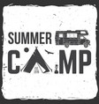 summer camp concept for vector image vector image