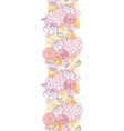 Sweet flowers vertical seamless pattern background vector image vector image