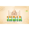 Taj Mahal in India Background vector image vector image