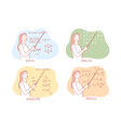 teaching school subjects set concept vector image vector image