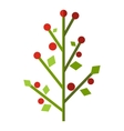 Tree with berries flat icon vector image vector image