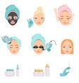 types procedures for facial rejuvenation vector image