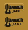 vintage woodworking logo vector image