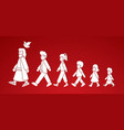 walk with jesus follow jesus cartoon graphic vector image vector image