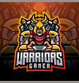 warrior gamer esport mascot logo vector image vector image