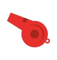 whistle icon baseball isolated vector image vector image