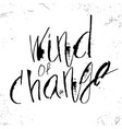 wind of change in calligraphy brush vector image