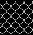 wire fence background close up on black vector image vector image