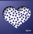 with a valentine heart vector image vector image