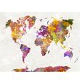 World map in watercolor multicolor vector image vector image