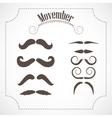 Movember mustache set vector image