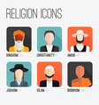 Religion People Icons vector image